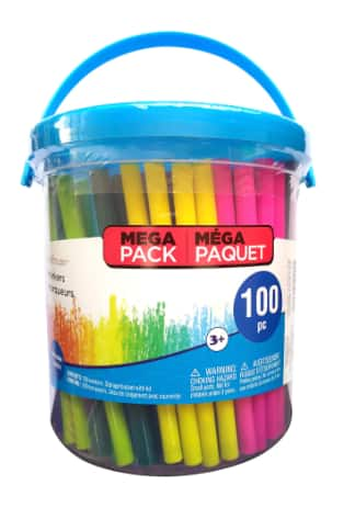 Creatology: 100-Piece Markers Bucket $1.48, 14-Piece Tempera Paint Bucket $1.48, 16-Piece Dough Bucket $1.48 & More + Free Store Pickup at Michaels (ymmv)