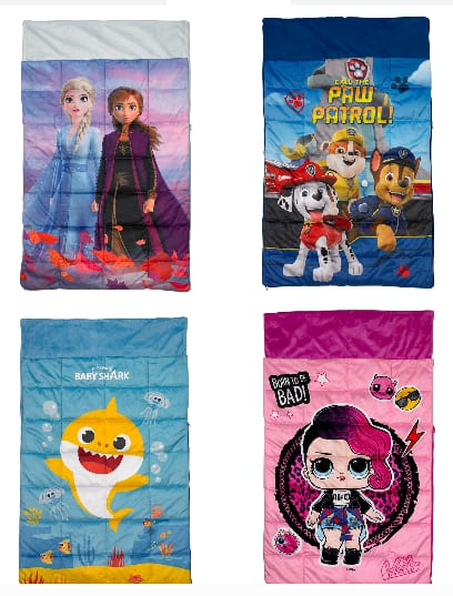 "36"" x 48"" Kids' Character 5 lb. Weighted Slumber Bag (Frozen 2, L.O.L. Surprise, Paw Patrol or Baby Shark) $15.97 Each + Free S/H on $35+"