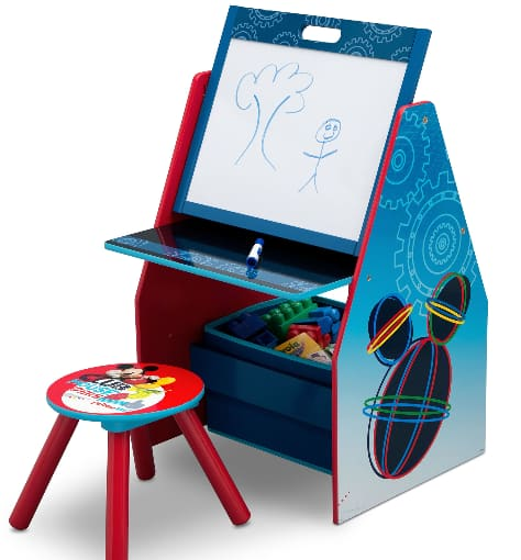 Delta Children Deluxe Kids' Art Table, Easel, Desk, Stool & Toy Organizer (Disney Mickey Mouse or Nick Jr. PAW Patrol) $38.50 + Free Shipping