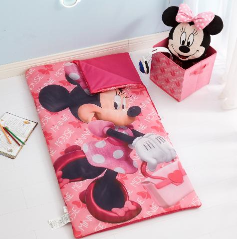 3-Pc. Disney Minnie Mouse Girls' Slumber Bag, Pillow & Storage Cube Set $14.98, 2-Count. Disney Minnie Mouse Bean Plush $9.97 ($4.98 Each) & More + Free S/H on $35+