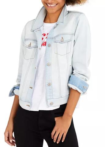 Rewash Women's/Juniors Denim Jacket $12, Style & Co Women's Plus Size Bungee Cargo Capri Pants (various) $11.04 & More + Free S/H on $25+