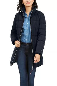 Tommy Hilfiger Women's Belted Faux-Fur Trim Hooded Puffer Coat (navy) $39.19, Jou Jou Juniors' Faux-Leather Jacket (various) $10.39 & More + Free S/H on $25+