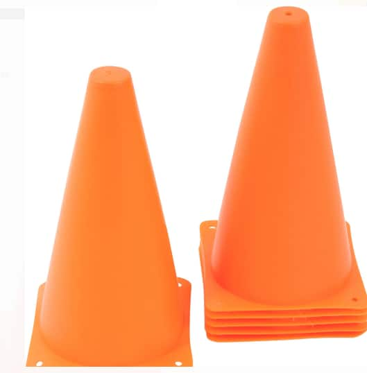 "9"" Trademark Innovations Sports Training Plastic Cones: 6-Pack Orange $9.63, 12-Pack Orange $11.87 & More + Free S/H on $35+"
