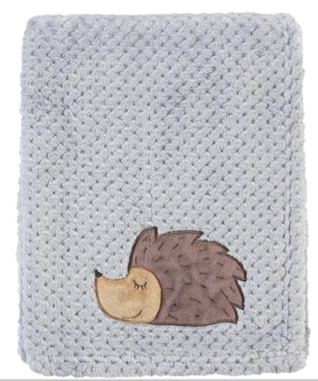 Hudson Baby Blankets: Plush Waffle Hedgehog Blanket $6, Plush #1 Draft Pick Football $7.32, Reversible Mink Perfect Gentlemen $7.96 & More + Free S/H on $35+