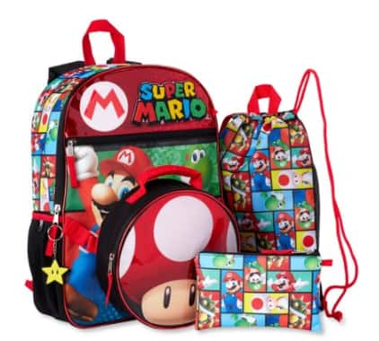 5-Pc. Kids' Super Mario or LOL Surprise Backpack w/ Lunchbox Set $11 & More + Free Store Pickup at Walmart or Free S/H on $35+