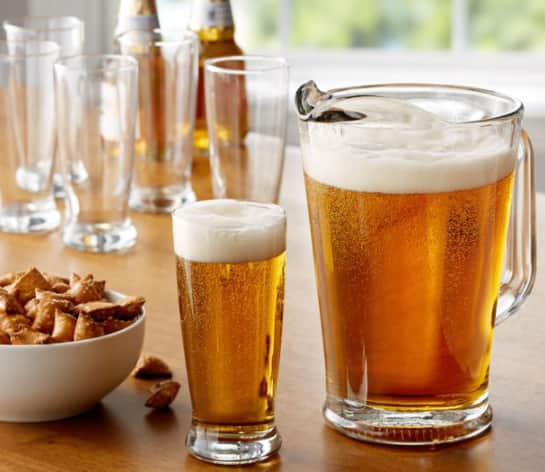 7-Pc. Mainstays 60 oz. Glass Beer Pitcher w/ Six 12 oz. Beer Glasses Set $13, 5-Piece Gibson Pitcher & Tumbler Glassware Set $10 + Free S/H on $35+