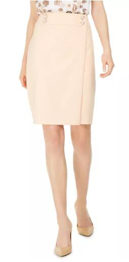 Calvin Klein Women's Petite Pencil Skirt (Papaya) $15.76, Thalia Sodi Women's Solid Ruffle-Trim Skirt (Cerise) $14.96 & More + Free Ship to Store at Macy's or Free S/H on $25+