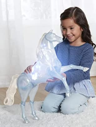 """Disney Frozen 2 Toys: 15"""" Elsa's Spirit Horse w/ Lights & Sounds $28.60, Elsa's Magic Ice Sleeve w/ Aerosol Silly String & Water Can $21.10 + Free S/H w/ Prime or Free S/H on $25+"""