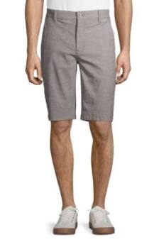 Hollywood Men's Shorts: Stretch Chambray Flat Front Shorts (2 colors, sizes 30, 34, 36) $6, Yarn Dye Dobby Stripe Shorts (2 colors) $7.50 & More + Free S/H on $35+