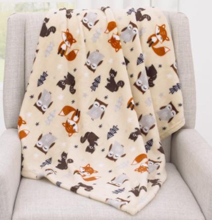 "30"" x 36"" Parent's Choice Plush Baby Blanket (Fox, Unicorn, Rainbow & More) $4.86 + Free Shipping on $35+"