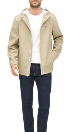 Levi's Men's Rain Hoodie Jacket (khaki) $28.62, Levi's Men's 511 Slim-Fit Long Cutoff Jean Shorts $15 + Free Ship to Store at Macy's or Free S/H on $25+