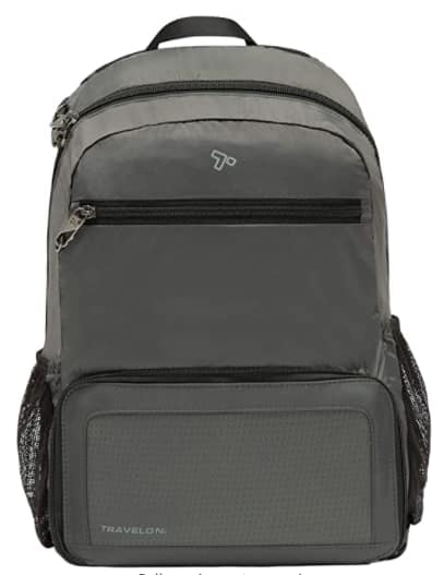 Travelon Anti-Theft Packable Backpack (Charcoal) $16.10 + Free S/H w/ Prime or Free on $25+