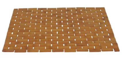 """23.5""""W x 15.75""""D Redmon Bamboo Spa Style Shower Mat $12 & More + Free Ship to Store at Macy's or Free S/H on $25+"""