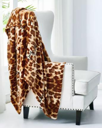 "50"" x 70"" Juicy Couture Plush Throw Blanket (various) $15.74, 50"" x 70"" Berkshire VelvetLoft Woodgrain Throw Blanket (2 colors) $14.24 & More + Free S/H on $25+"