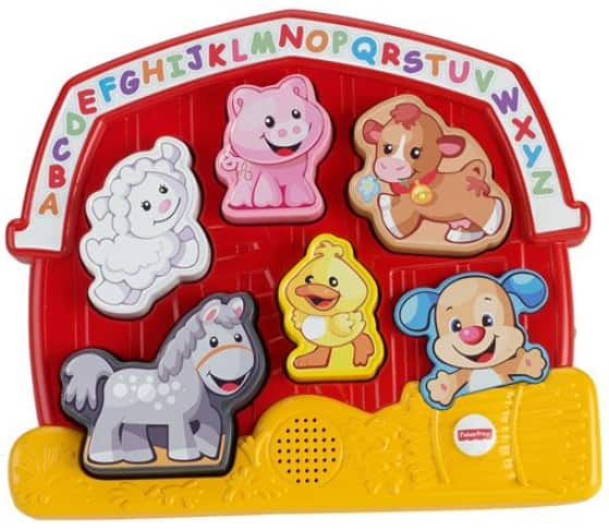Fisher-Price Laugh & Learn Zoo Puzzle w/ 7 Different Songs (Farm Animals or Zoo Animals) $9.97 Each + Free S/H on $35+