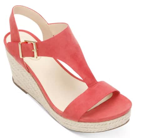 Women's Footwear: Kenneth Cole Reaction Card Wedges (coral) $14.96, Ecco FlowT Slide Sandals (blue) $29.96 & More + Free Store Pickup at Macy's or FS on $25+