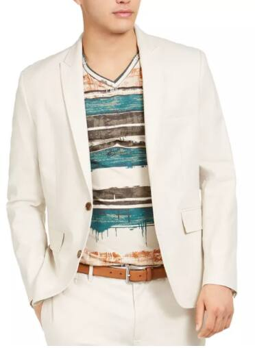 INC Men's Slim-Fit Linen Jasper Blazer (stone or white) $20.86, INC Men's Slim-Fit Gray Suit Pants $10.66 & More + Free Store Pickup at Macy's or FS on $25+