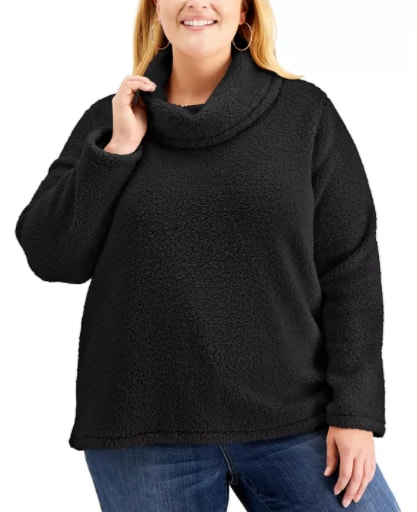 Style & Co Women's Plus Size Fleece Sweater (various) $10.50, Karen Scott Women's Petite Fleece Pants (Heather Indigo) $5.60 & More + Free Store Pickup at Macy's or FS on $25+