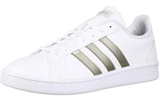 adidas Women's Grand Court Sneakers (White/Silver) $23.73 & More + Free Shipping on $49+