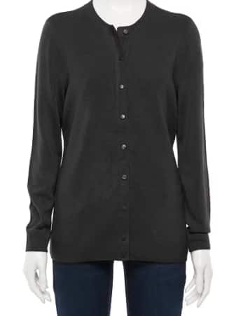 Croft & Barrow Women's Cardigans or Sweaters (various styles & colors) $8 + Free Store Pickup at Kohl's of FS on $75+