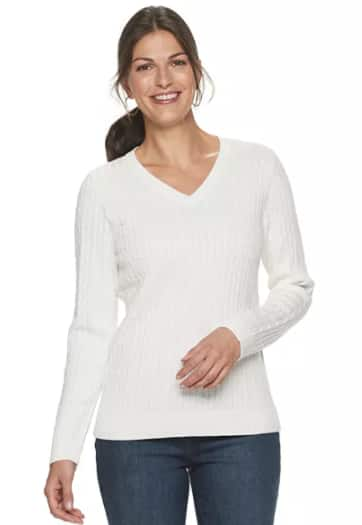 Kohl's Cardholders: Croft & Barrow Women's Sweaters or Cardigans (various styles & colors) $7 + Free Store Pickup at Kohl's or FS on $75+