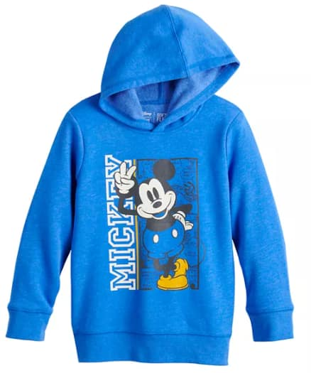 Kohl's Cardholders: Jumping Beans Disney: Boys' Graphic Hoodie (Mickey or Buzz) $7, Toddler Girls' Minnie Leggings $4.89 & More + Free Store Pickup at Kohl's or FS on $75+