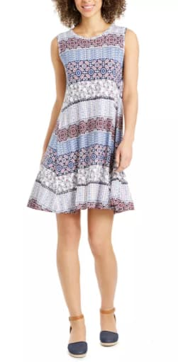 Style & Co Women's Petite Sleeveless Printed Sheath Dress $13.93, JM Collection Women's Printed Top $10.23 & More + Free Store Pickup at Macy's or FS on $25+