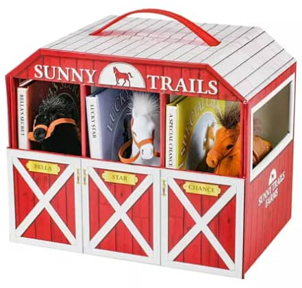 Sam's Club Members: Sunny Trails Farms Children's Horse Stable Barn Book Set w/ 3 Books & 3 Plush Toy Horses $14.98 + Free S/H for Plus Members