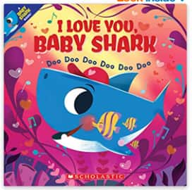 Children's Books: I Love You, Baby Shark Paperback Book $4.59, I Love You Every Day Finger Puppet Board Book $5.41 + Free S/H w/ Prime or FS on $25+
