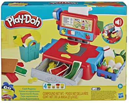 Play-Doh Cash Register Toy w/ Fun Sounds, Play Food Accessories, & 4 Play-Doh Colors $7.49 + Free S/H w/ Prime or FS on $25+