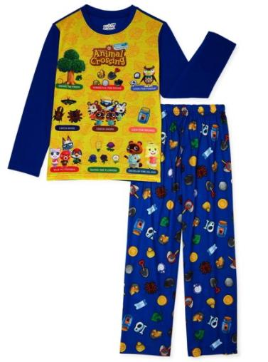 2-Pc Nintendo Animal Crossings Boys' Pajamas: Long Sleeve Top & Pants Set $7, Short Sleeve & Shorts Set $9.97 + FS w/ Walmart+ or FS on $35+