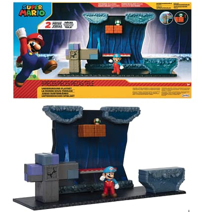 Super Mario Underground Playset w/ Ice Mario Action Figure & Interactive Environment Pieces $17.80 & More + Free S/H w/ Prime or FS on $25+