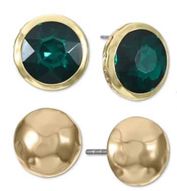 2-Pc Style & Co Gold-Tone Stud Earrings Set $4.33, 15-Pc Style & Co Gold-Tone Bangle Bracelet Set $5.83 & More + Free Store Pickup at Macy's or FS on $25+