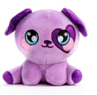 Squeezamals 3Deez Slow-Rise Foam Stuffed Animal (Purple Dog Brennan) $3.88 & More + Free Shipping w/ Walmart+ or FS on $35+