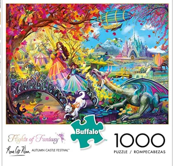 1000-Piece Buffalo Games Flights of Fantasy Autumn Castle Festival Jigsaw Puzzle (Glitter Edition) $9.24 + Free S/H w/ Prime or FS on $25+
