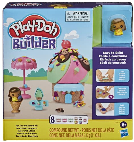 Play-Doh Builder Ice Cream Stand Toy Building Kit w/ Play-Doh Cans $5 + FS w/ Prime, FS on $25+ or FS w/ Walmart+, FS on $35+