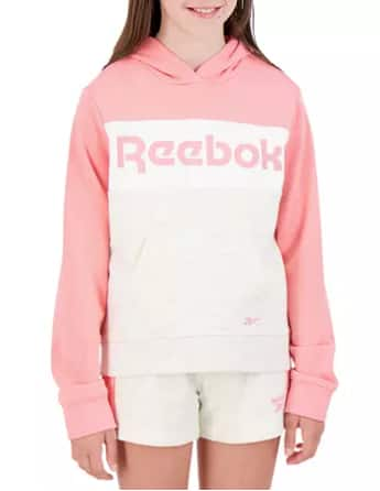 Sam's Club Members: 3-Pc Reebok Kids' Hoodie, T-Shirt & Shorts Outfit Set: Girls' (Pink, size 7/8) $7.81 & More + Free S/H for Plus Members