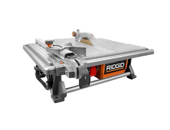 Ridgid - 6.5 Amp Corded 7 in. Table Top Wet Tile Saw $99