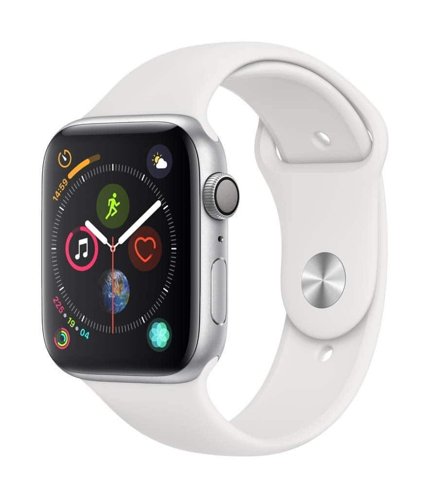 fc8d40b7564c4 Apple Watch Series 4 (GPS, 44mm) - Silver Aluminium Case with White ...