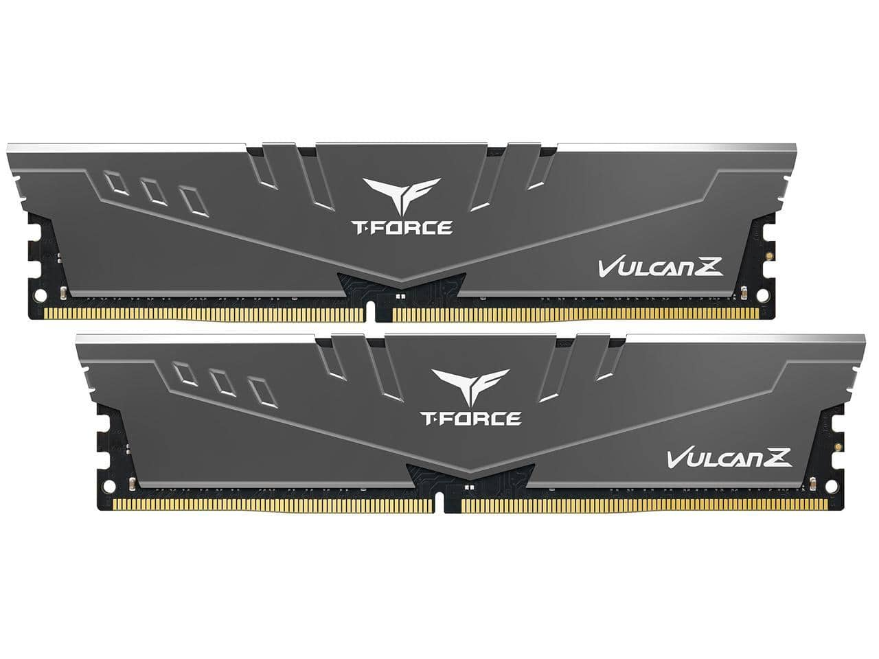 TEAMGROUP T-Force Vulcan Z DDR4 16GB Kit (2 x 8GB) 3200MHz (PC4 25600) CL16 Desktop Memory Module Ram - Gray / Red Free Shipping @Amazon.com / Newegg.com $54.99