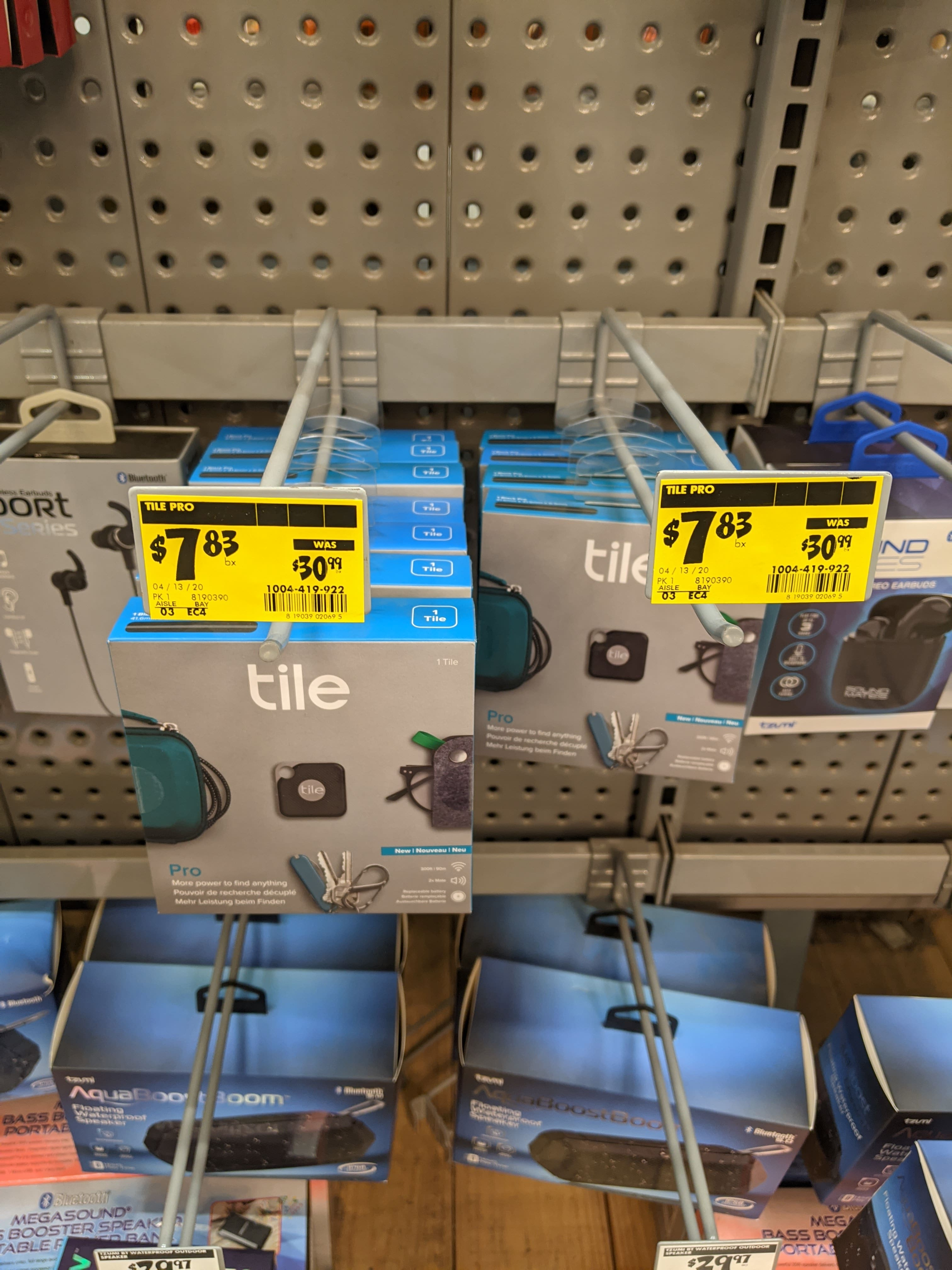 Tile Pro Black with Replaceable Battery-RT-15001 (2018) $7.83 - YMMV - The Home Depot