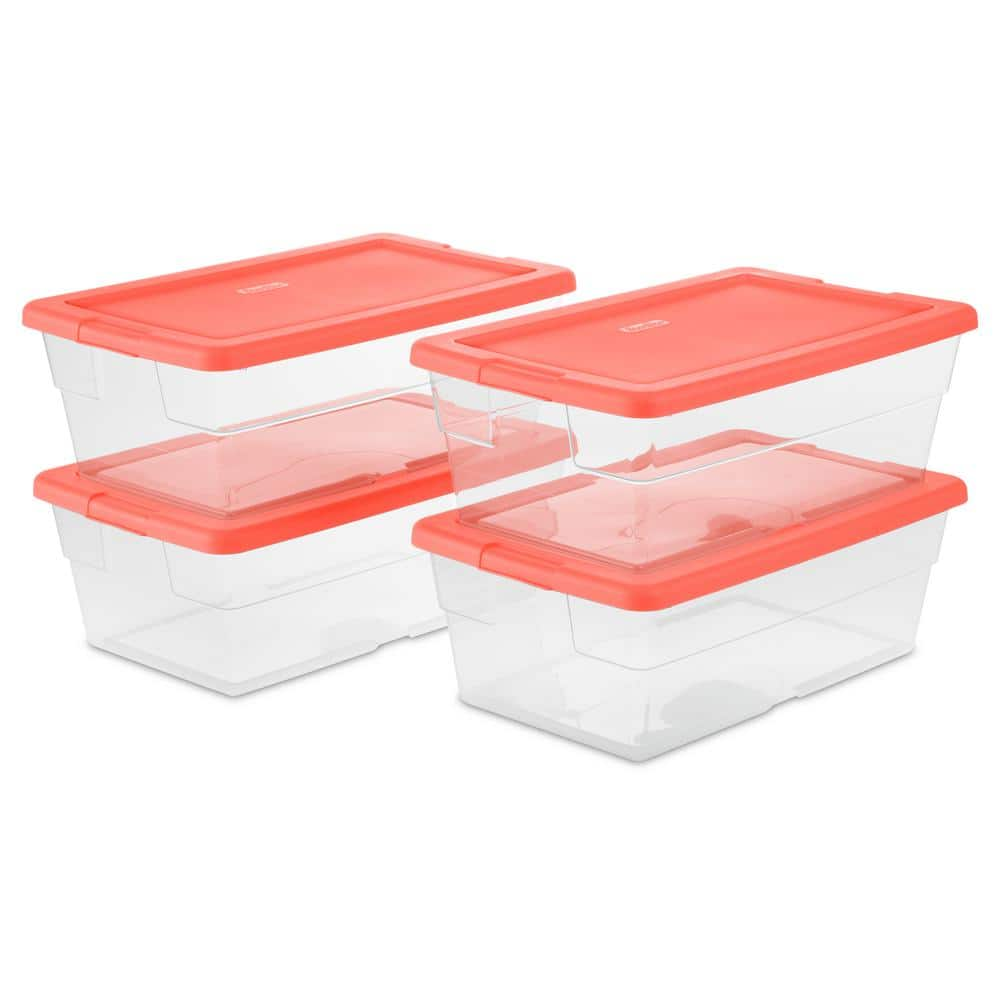 Sterilite 6 Qt. Storage Box (Set of 4) @ Home Depot   $3.98+tax