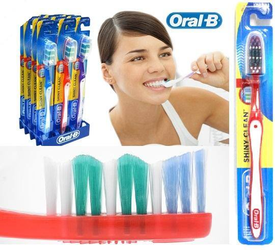 Oral-B 12 Pack - Shiny Clean Soft 35 Toothbrush Set ($4.99 + free shipping)