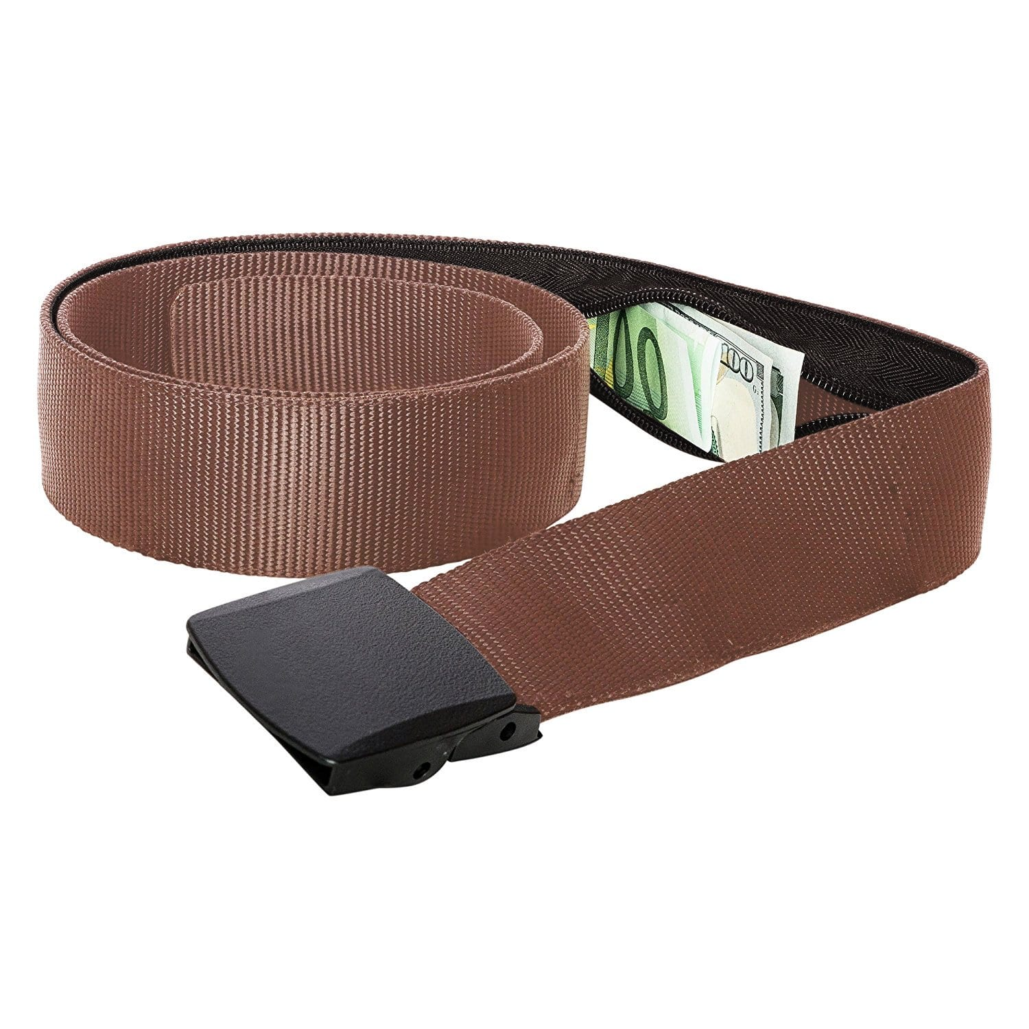 Amazon: Zero Grid Travel Security Belt - Hidden Money Pouch - Non-Metal Buckle $8.99 after coupon