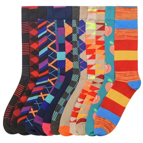 Alphabetdeal: 12-Pack Fun Style Socks in Men's Size 10-13 for $8.79 with Code. Free Shipping.