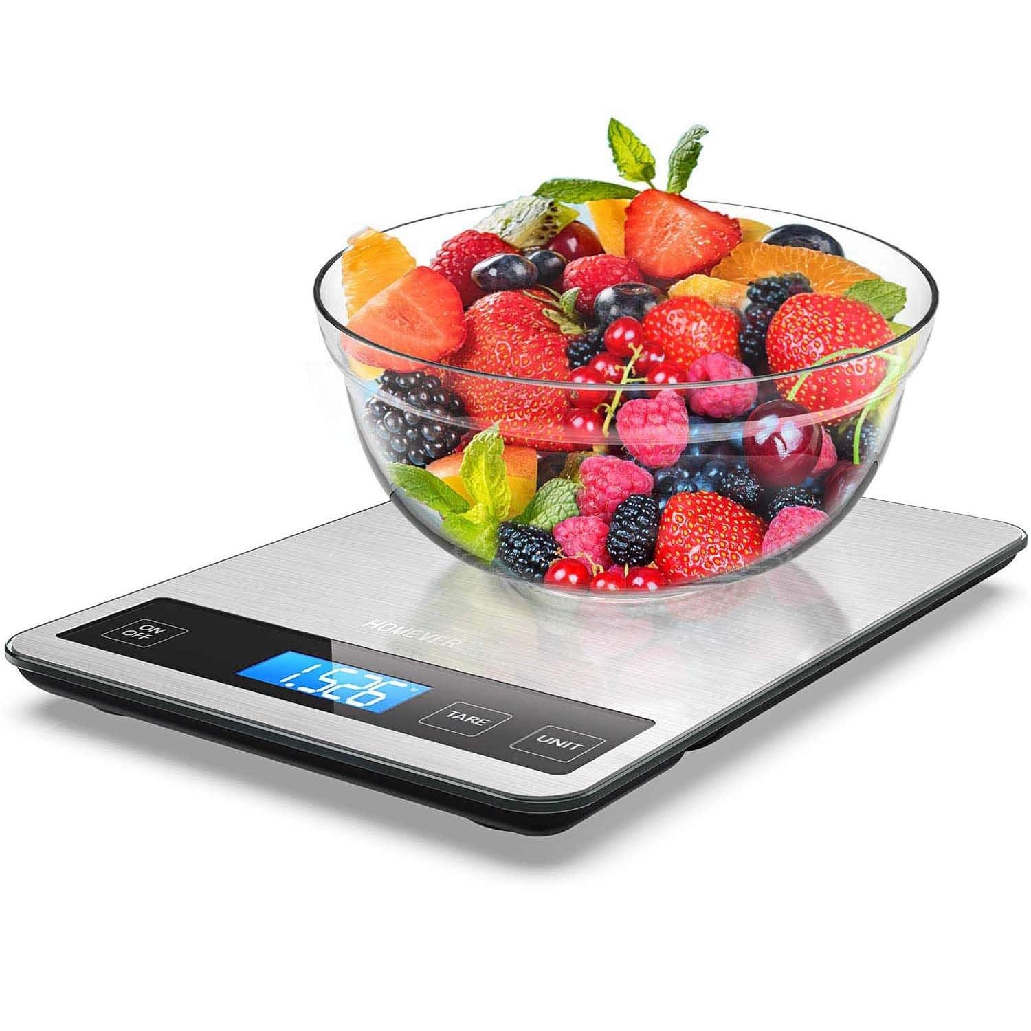 Bolan Tech via Amazon: Homever 15kg Digital Food Scale for $12.99 with Code + Free Shipping with Prime or on Orders $25+