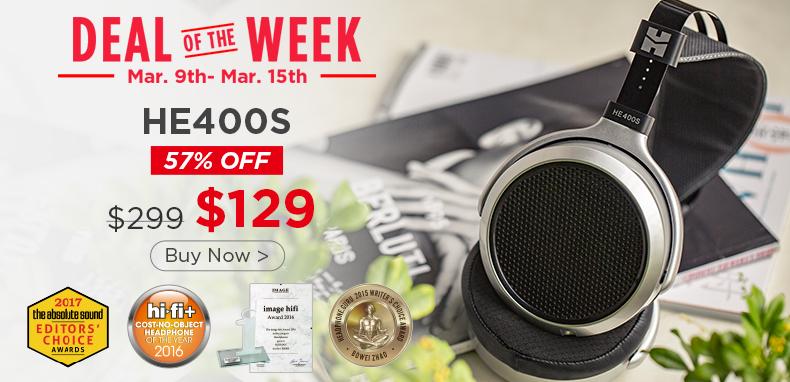 Hifiman via Amazon: Hifiman HE400S Over-Ear Full-Size Planar Magnetic Headphone for $129 + Free Shipping.