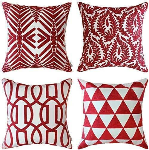 Alphamarts: Phi Villa Set of 4 Embroidered Throw Pillow Covers (Available in 6 Colors) for $17.16 with Code. Free Shipping.