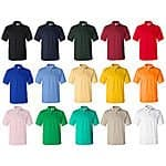 Men's 100% Preshrunk Cotton Short Sleeve Pique Polo Shirt  $9.48 FREE SHIPPING