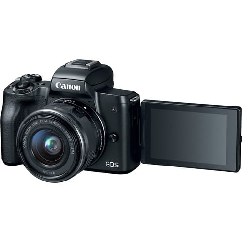 Canon EOS M50 Mirrorless Camera Body w/ Canon EF-M Lens Adapter @ $579, or w/ 15-45mm Lens + Adapter @ $599